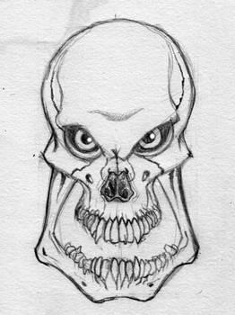 Evil Skull sketch
