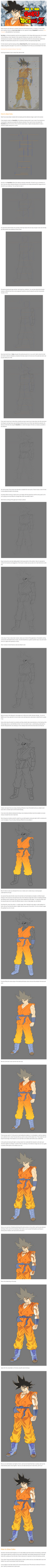 Learn how to draw Goku from Dragon Ball by Maxduro