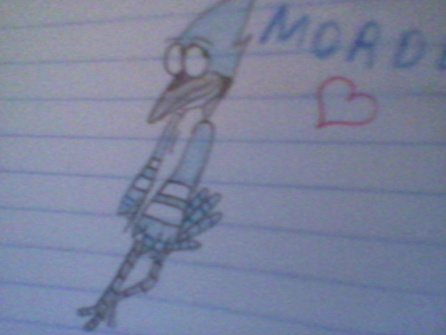 Mordecai (Dibujo COMPLETO) by Kitty-Drawings18