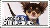 Longhair chihuahua stamp by Tollerka