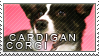 Welsh corgi cardigan stamp by Tollerka