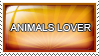 Animals lover stamp