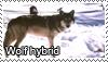 Wolf hybrid stamp by Tollerka