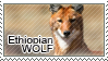 Ethiopian wolf stamp by Tollerka