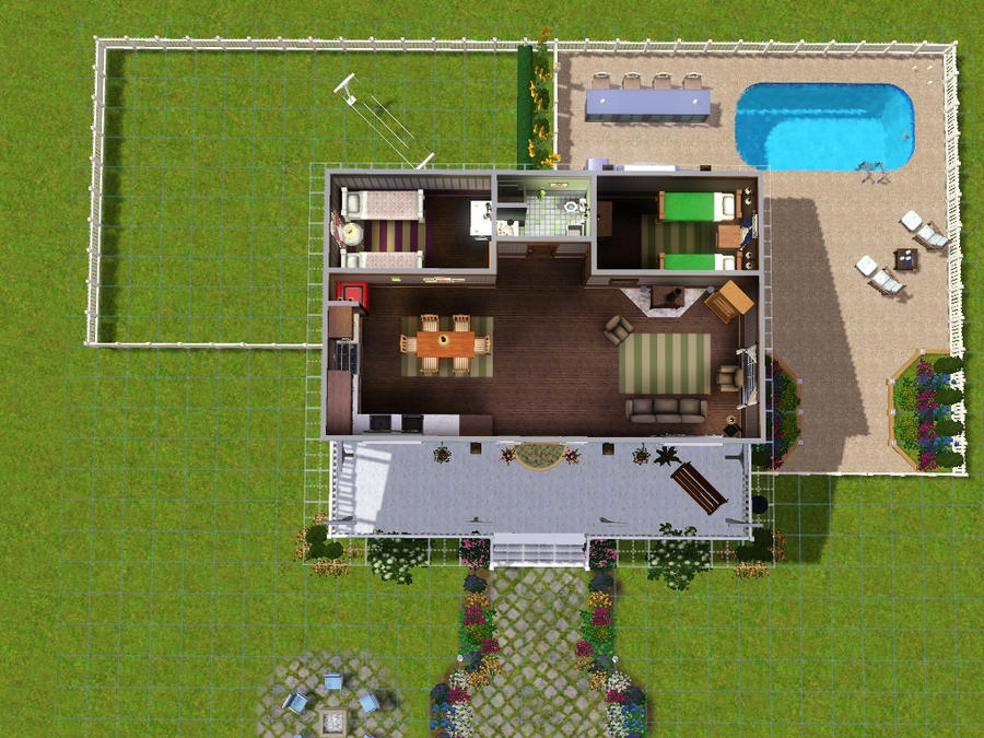 Sims3 house build 2 02 by angelmoonce on deviantart for Simple sims 3 house plans