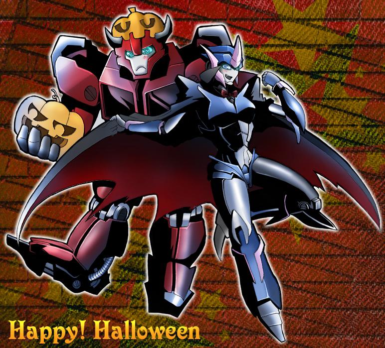 [Pro Art et Fan Art] Artistes à découvrir: Séries Animé Transformers, Films Transformers et non TF - Page 6 Halloween_by_kagamilei-d4ekv0q