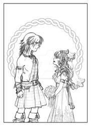 The Wedding -ROUGH LINEART-