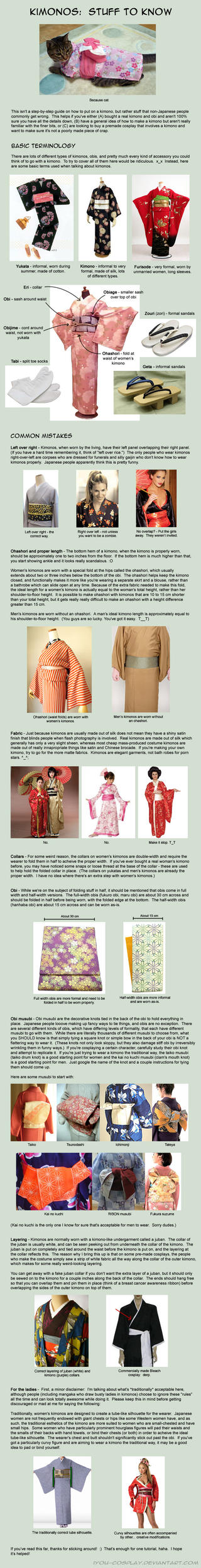 Kimonos:  Stuff to Know by iyou-cosplay