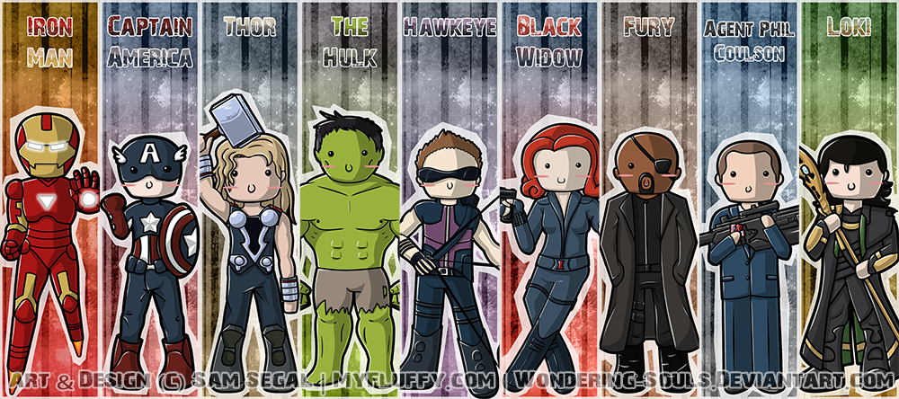 avengers bookmarks assembled by sambeawesome