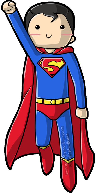 cute superman flying drawing - photo #22