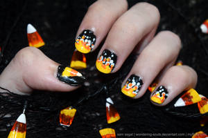 Candy Corn Nails 2015 by sambeawesome