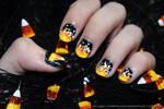 Candy Corn Nails 2015
