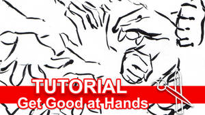 Tutorial: How to Get Good at Drawing Hands by sambeawesome