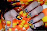 Candy Corn Nails 2016 by sambeawesome