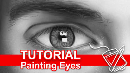 Tutorial: Digitally Painting Eyes [Video] by sambeawesome