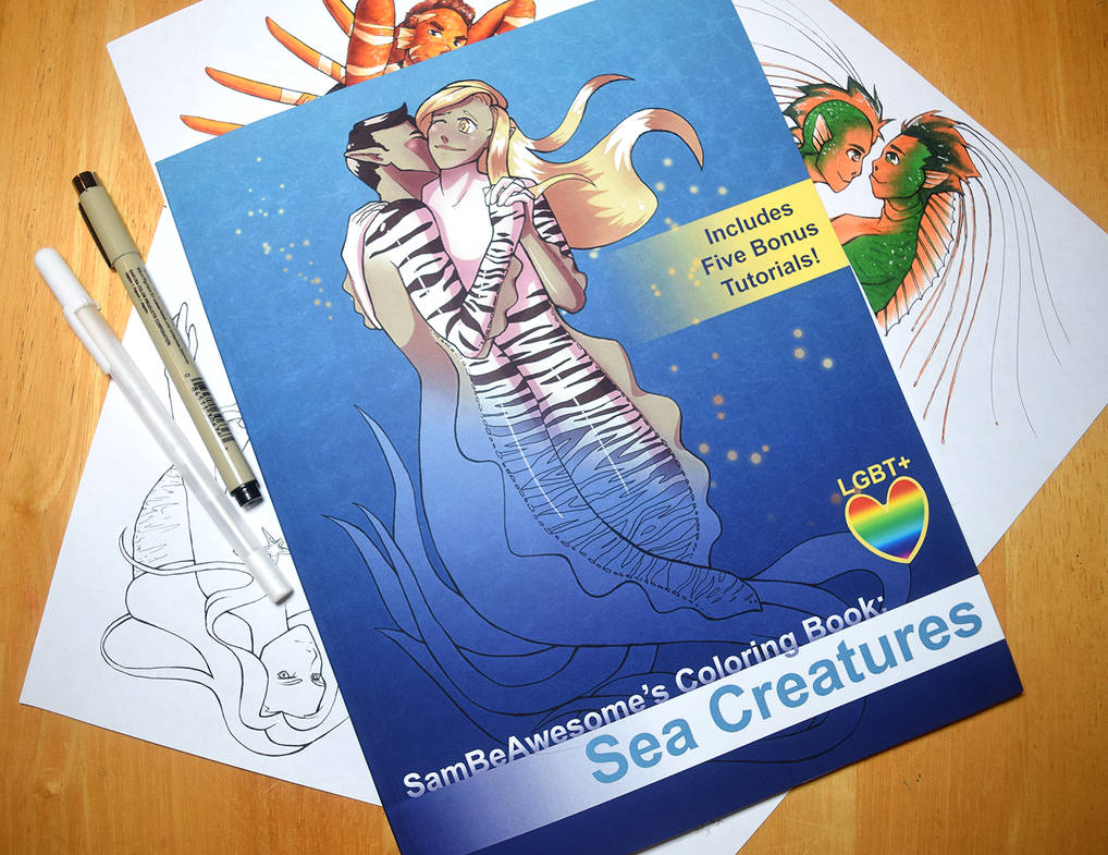 Sea Creatures Coloring Book by sambeawesome