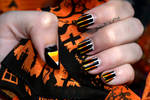 Candy Corn Nails 2018 by sambeawesome