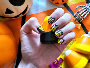 Candy Corn Nails 2020