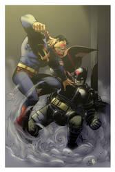 Batman vs. Superman by spidermanfan2099