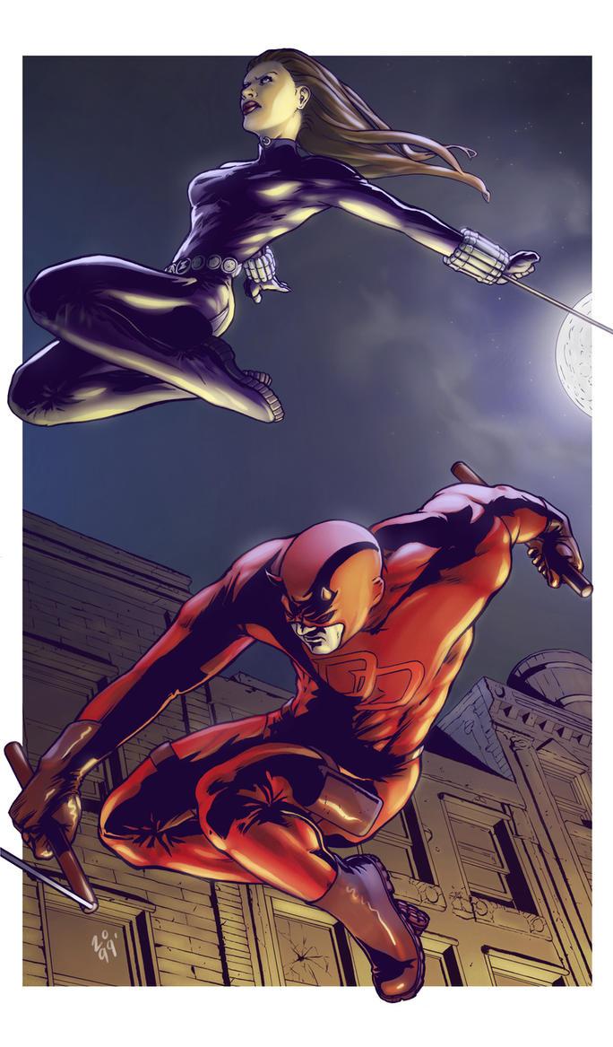 Daredevil n' Black Widow by spidermanfan2099