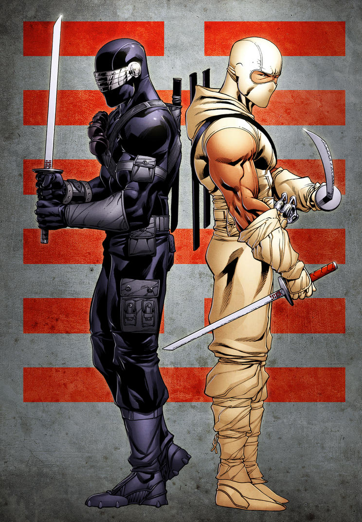 Snakeeyes And Stormshadow By Spidermanfan2099 On Deviantart