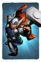 Thor by Ratkins coloured by spidermanfan2099