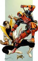 Karate Kid vs Deadpool by spidermanfan2099