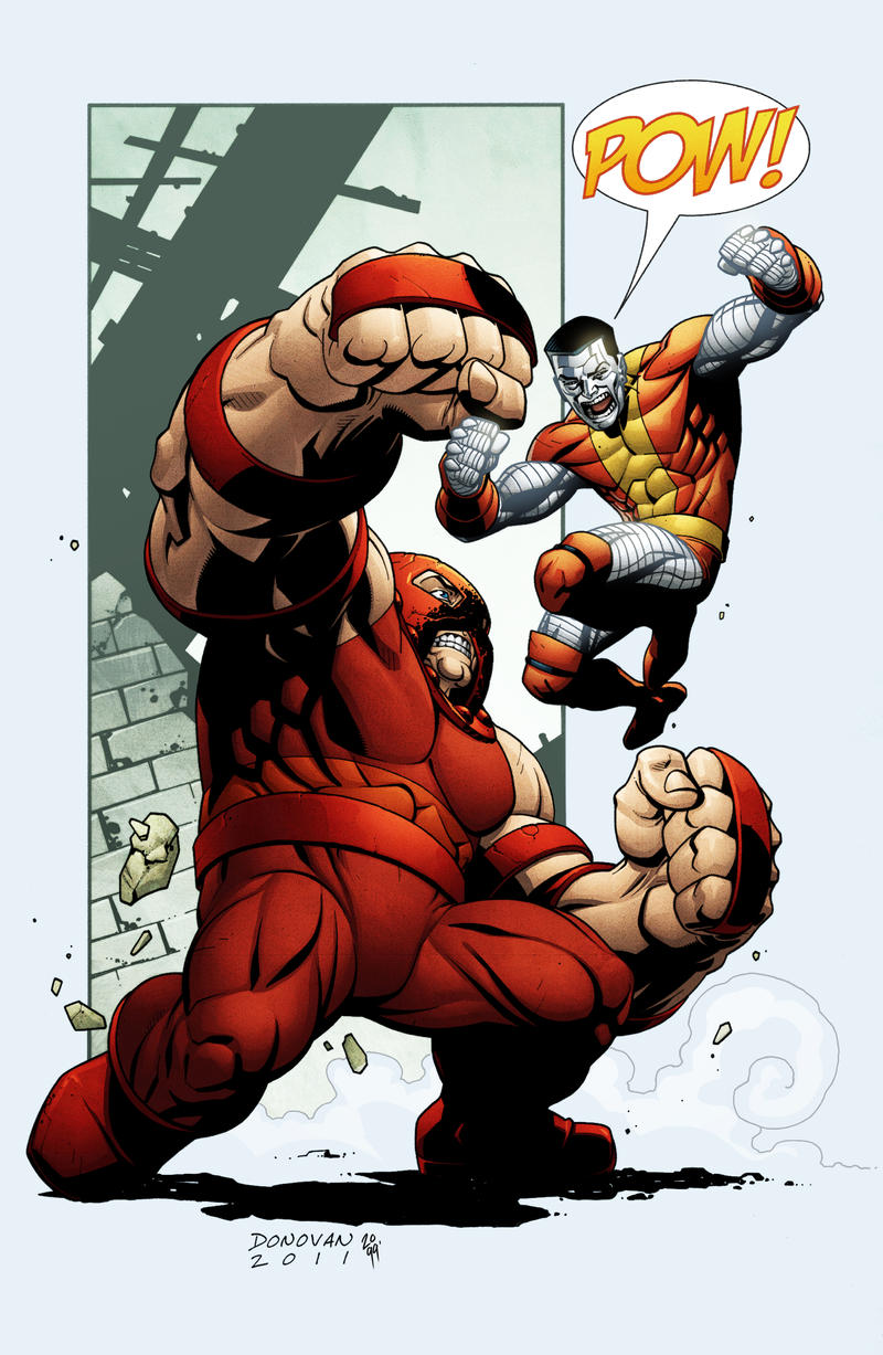 Juggernaut vs Colossus by spidermanfan2099
