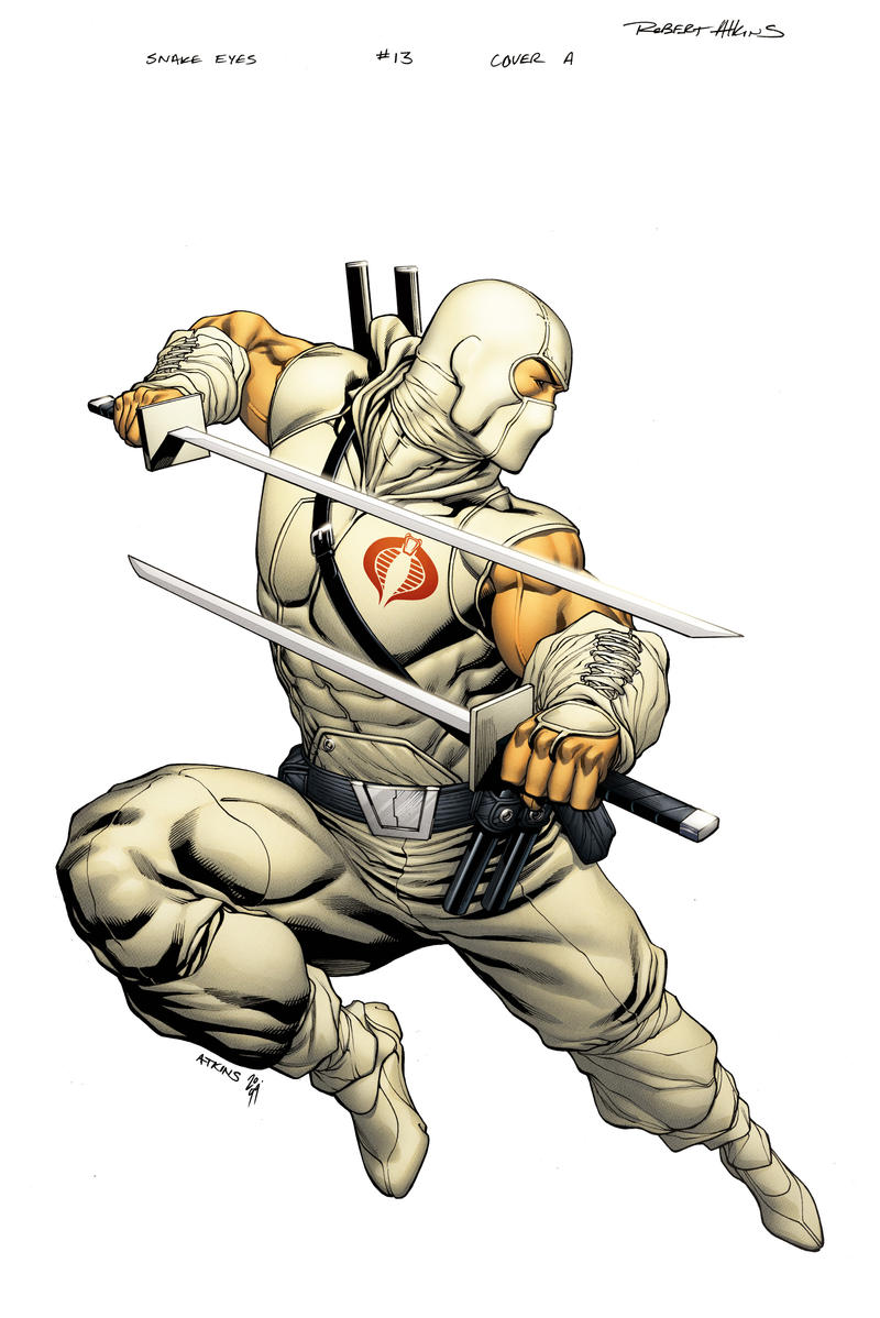 SnakeEyes StormShadow 13 cover by spidermanfan2099