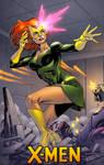 Jean Grey in the Danger room