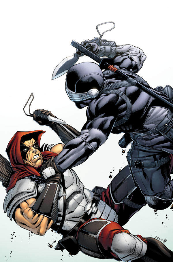 Snake Eyes Storm Shadow 16 Variant Cover by spidermanfan2099