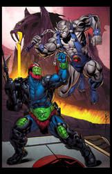 Trapjaw vs Panthro by spidermanfan2099