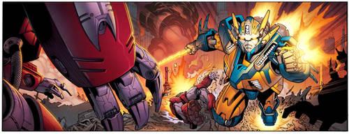 Mech Battle Panel by spidermanfan2099