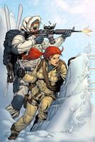 Snowjob and Scarlett by spidermanfan2099