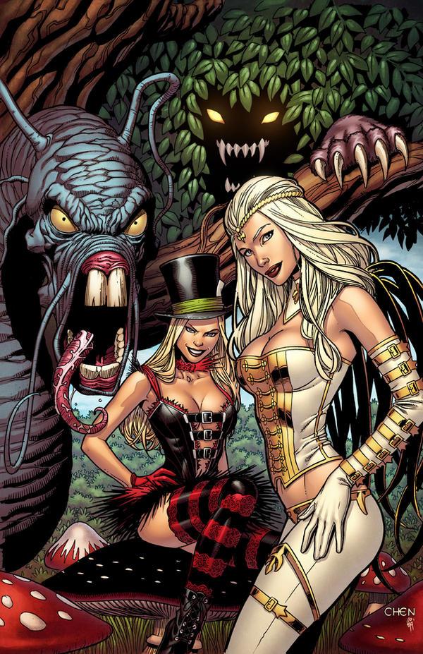 Wonderland #25 cover by spidermanfan2099
