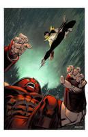 Karate Kid vs Juggernaut by spidermanfan2099