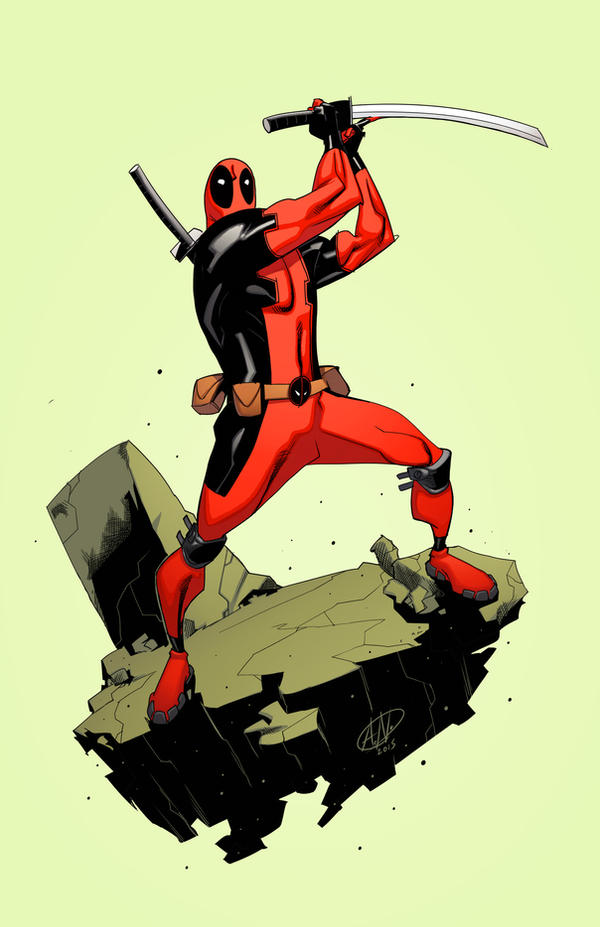 Deadpool quickie by spidermanfan2099