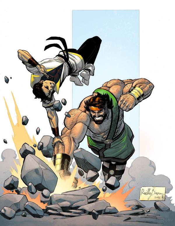 Hercules vs Karate Kid by spidermanfan2099
