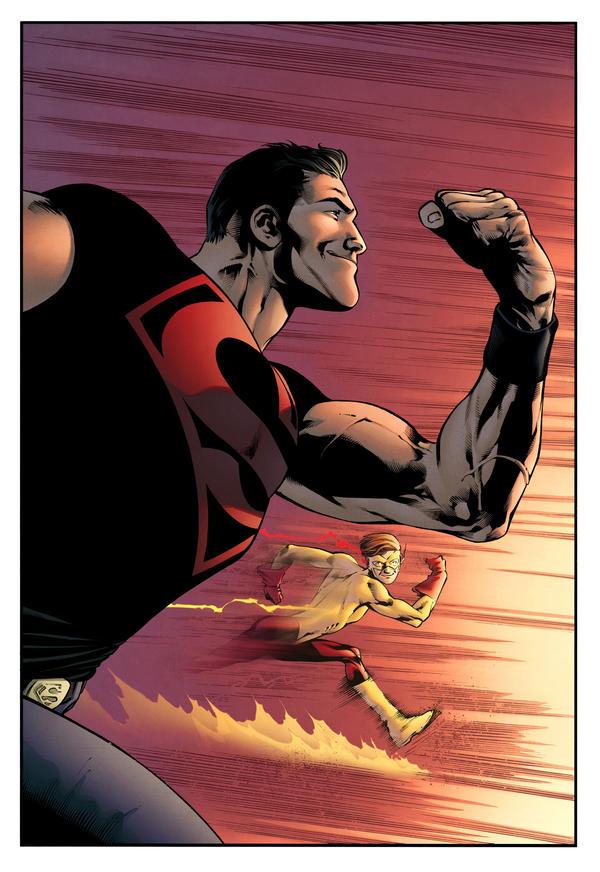 Superboy vs Kid Flash by spidermanfan2099