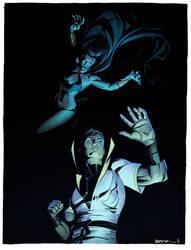 Shadow Lass vs Karate Kid commission