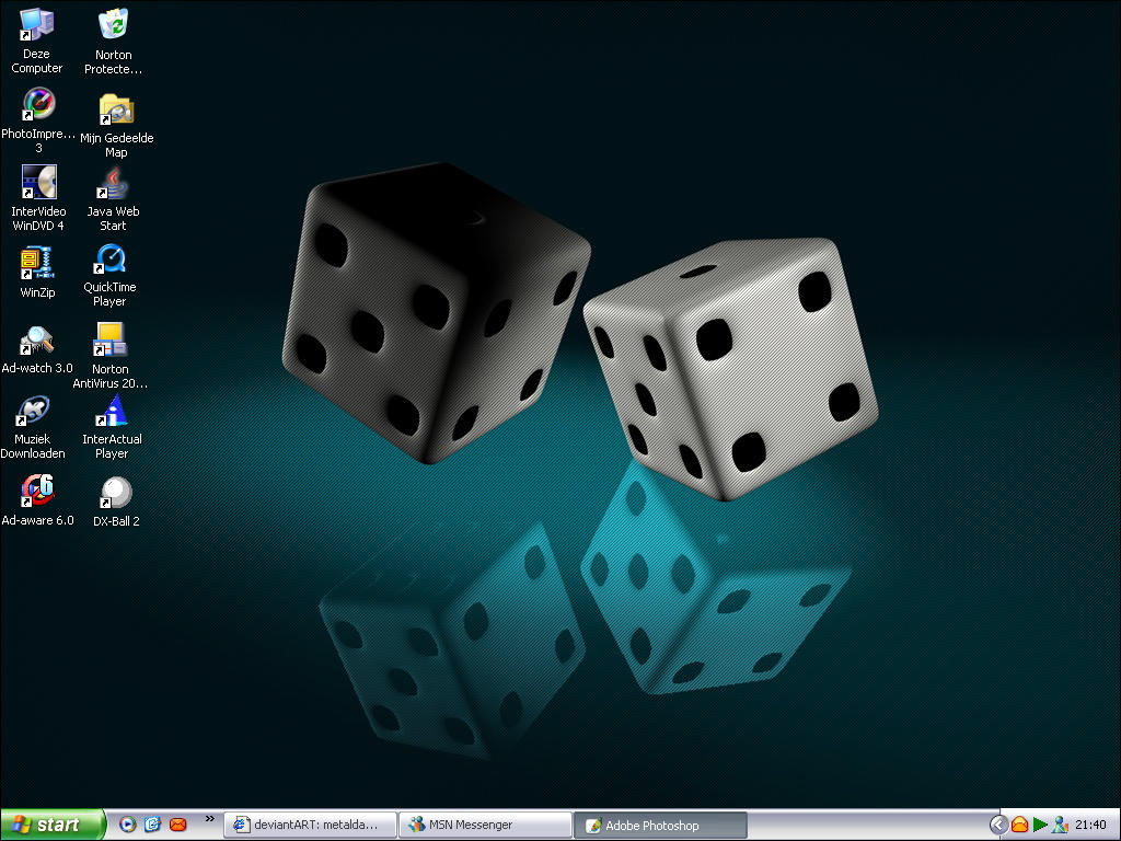 Dice Desktop by metaldaeron