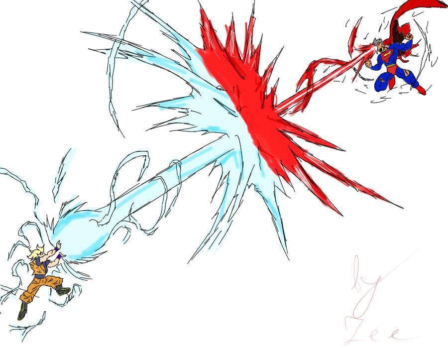 goku vs superman by ZNightLocker on DeviantArt