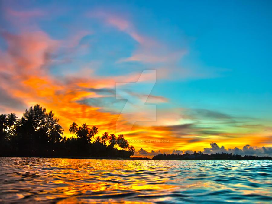 Maldives sunset by MotHaiBaPhoto