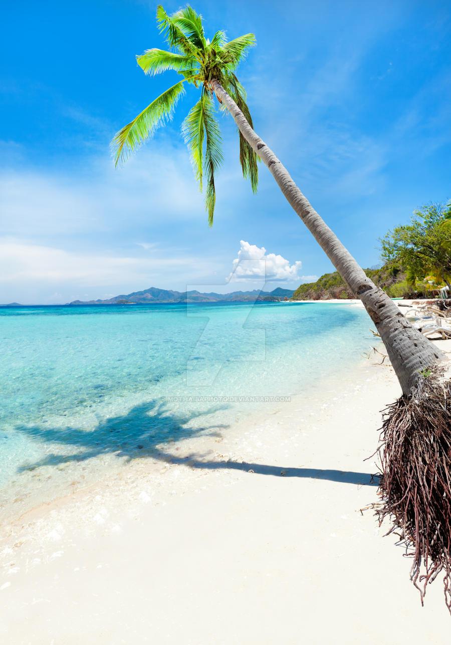 Tropical beach Malcapuya by MotHaiBaPhoto