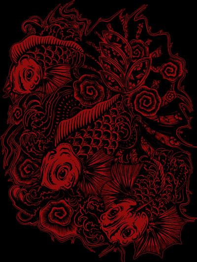 Japanese Koi Art Wallpaper Japanese Koi Art Drawing by