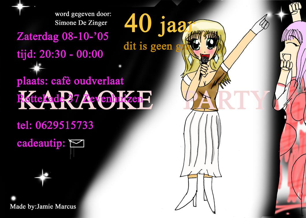 karaoke party invitation by Lloyd17 on DeviantArt