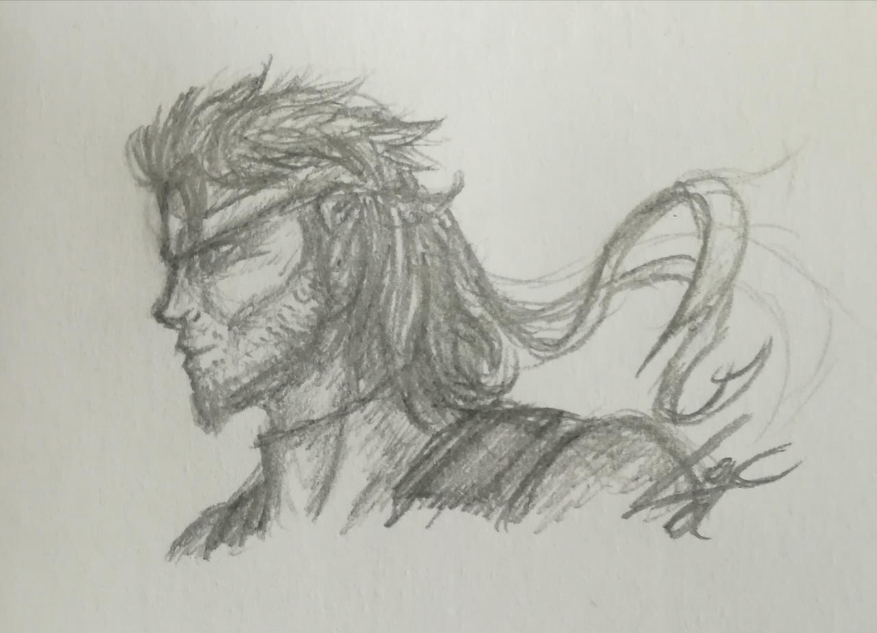 Solid Snake Metal Gear Solid 2 Fan Art By Lichtningbolt On