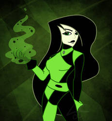 Shego fan art |KIM POSSIBLE FAN ART by lichtningbolt