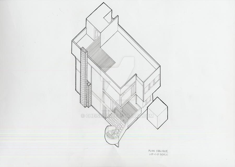 Smith House Plan Oblique by Cheishier on DeviantArt – Richard Meier Smith House Floor Plans
