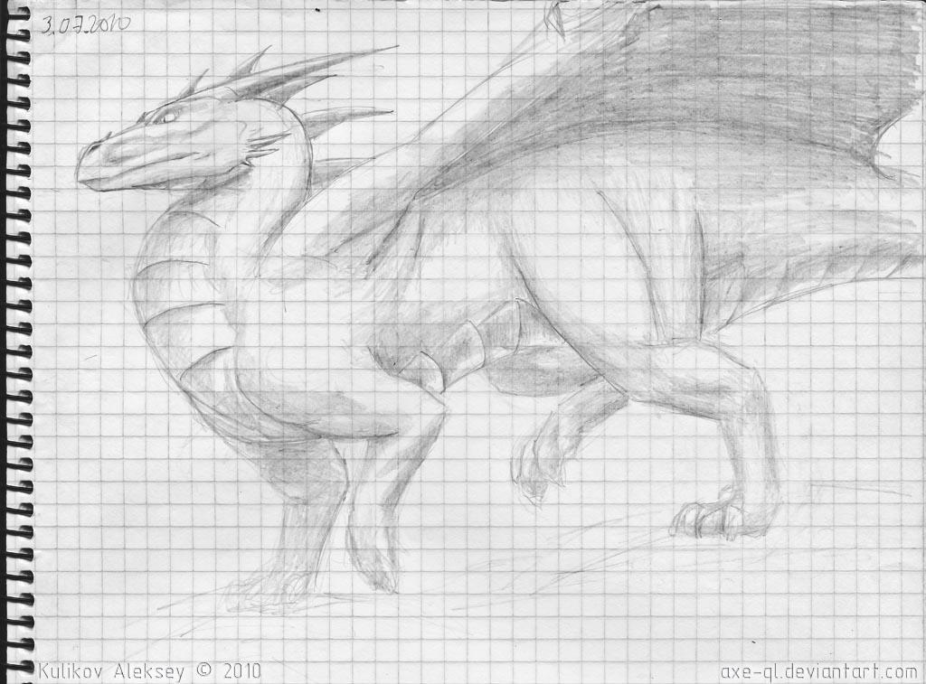 dragon sketch 02 by axe-ql